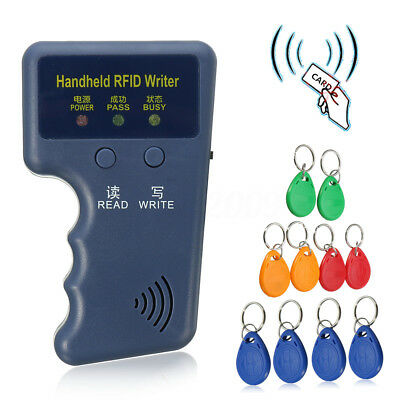Portable Handheld Card Writer/Copier Duplicator for All 125KHz RFID Cards US