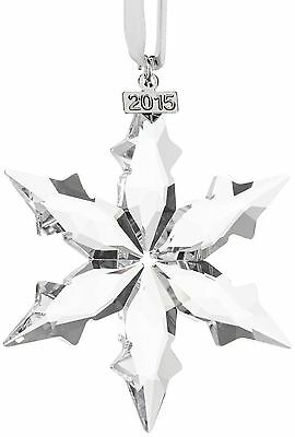 New In Box 2015 SWAROVSKI CRYSTAL CHRISTMAS ORNAMENT SNOWFLAKE #5099840