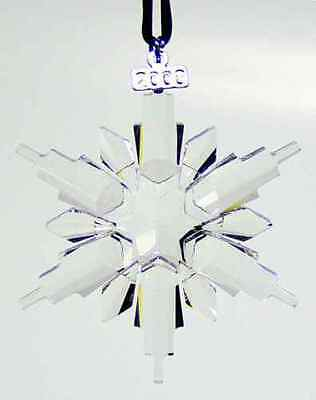 Brand New 2006 Large Swarovski Crystal Christmas Ornament Star/snowflake #837613