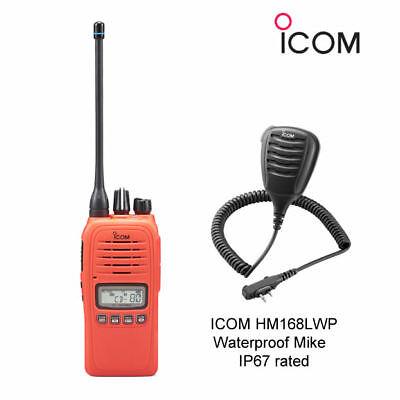 Icom Ic-41Pro Orange Uhf/cb Handheld Radio + Hm168Lwp Speaker Microphone New !!!