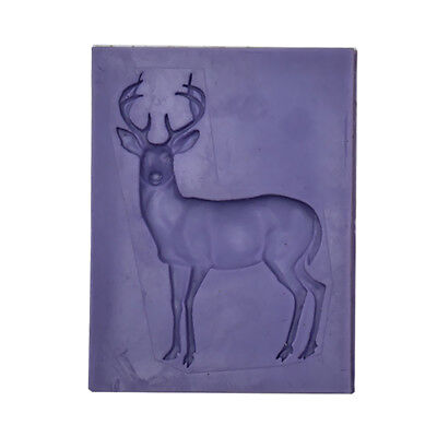 3D Silicone Christmas Deer Mold Fondant Cake Decorating Soap Mould Purple