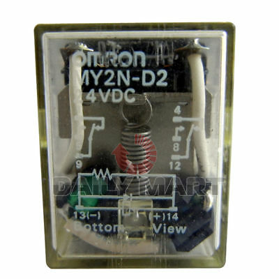 Brand New in Box Omron MY2N-D2 Relay Built-In Diode Model Socket Mounting 24VDC