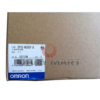 Omron Cp1E-N30Dt-D Programmable Controller I/o Module 18In 12Npn Rs232 Plc New