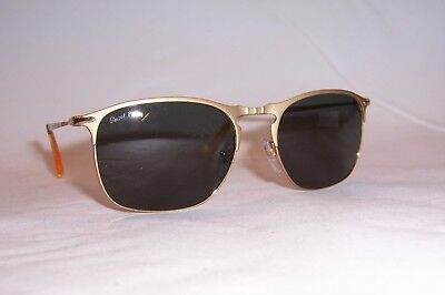 NEW Persol Sunglasses PO 7359/S GOLD/GREEN POLARIZED 106958 55mm AUTHENTIC