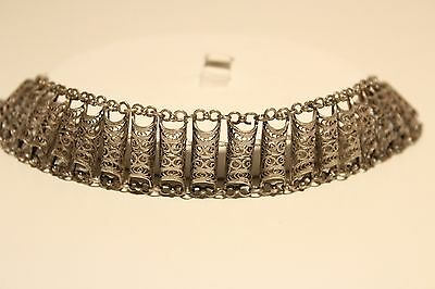 Antique Beautiful Rare Ottoman Islamic Ladies Hand Made Solid Silver  Bracelet