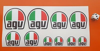 AGV  Stickers Set 7-10 YEAR QUALITY VINY  ECO SOLVENT INK / ROSSI