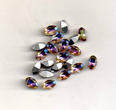 10 Strass Ovales 4100 - Pierre Ovale 4X6 Rose - 10 Pieces