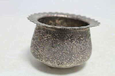 Rare Unique Antique Old Hand Made Engraved 72gr. Silver Cup Bowl. 2