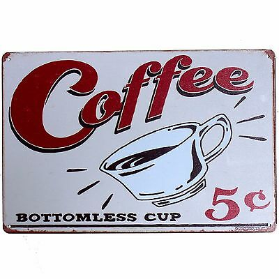 Metal Tin Sign coffee  Decor Bar Pub Home Vintage Retro Poster Cafe ART