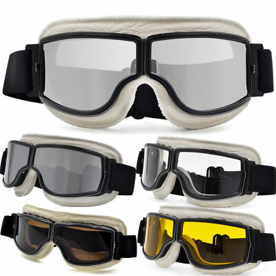 Motorcycle Vintage Pilot Motorbike GOOGLES Eyewear Glasses UV Protect For Harley