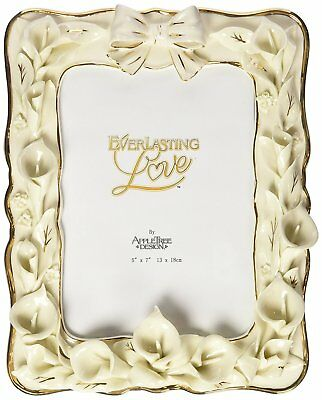 Appletree Design 25th Anniversary Calla Lilies Photo Frame, 9-1/2 by 7-1/2-Inch,