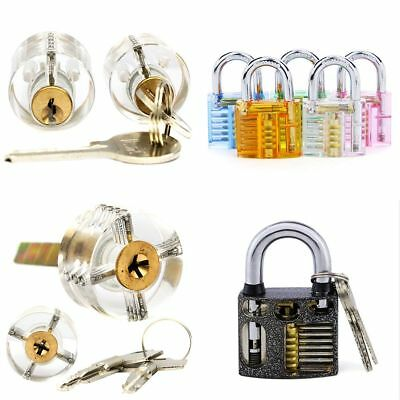 Practice Transparent Visable Practice Cutaway Lock Padlock Locksmith Training