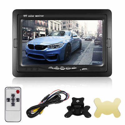 """7"""" TFT LCD Monitor Screen Stand 2 Input for Car Rear View Backup Camera System"""