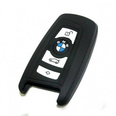 BMW Key Fob Case Cover In 100% Silicone In Black BMW Series 1/3/5/7 keyless