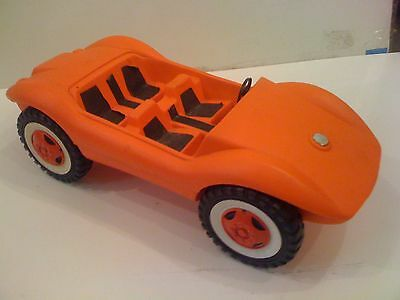 "Vintage 21"" German Toy Plastic Car Made in Germany Very Old Rare Hard-To-Find"
