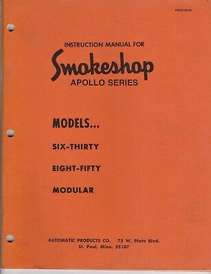 Instruction manual for Smokeshop apollo series vending machines# 630, 850,
