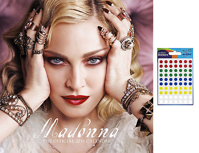 Madonna 2018 Official Wall Calendar - Includes 70 Coloured Dot Stickers