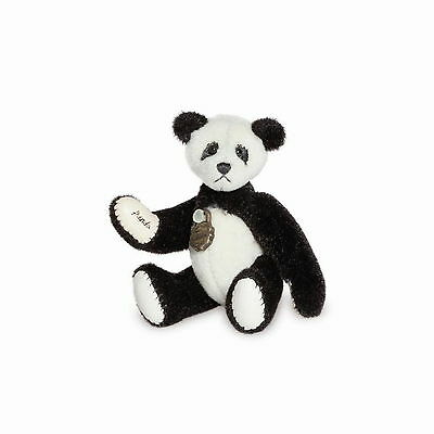 Teddy Hermann fully jointed collectable miniature panda bear in gift box 157694