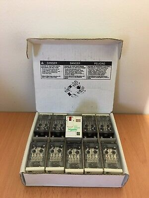 Box of 10 x Schneider 24v RXM4AB2B7 4PDT Socket Mount Non-Latching Relay 940380