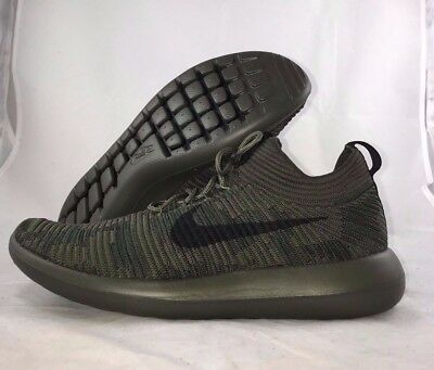 1a1b6755d1fb ... Nike NikeLab Roshe Two 2 Flyknit V2 Cargo Khaki Green Black 918262-300  Men s ...