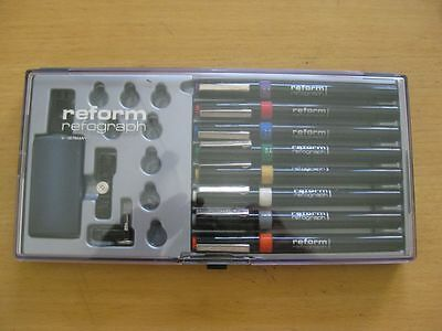 NEU Rare Vintage Reform Refograph Germany Tuschefüller Technical Pens 0,1-1,2