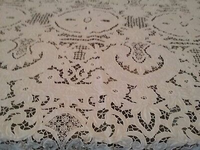 Estate embroidered lace table cloth handmade in spain