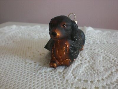 "Old World Christmas ""Long-Haired Dachshundl"" ornament"