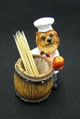 CHEF DOGS Pomeranian Toothpick Holder DOG Pet Gift Figurine
