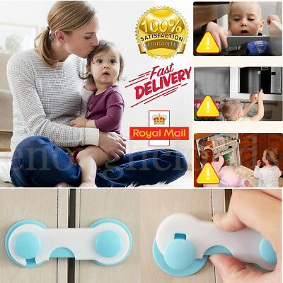 5-10 Adhesive Baby Child Kid Safety Proof Cabinet Door Fridge Draw Cupboard Lock