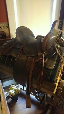 Antique Highback Saddle