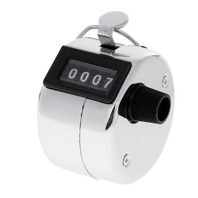 Metal Hand Tally Counter Hand Held Clicker Número de 4 dígitos Counter