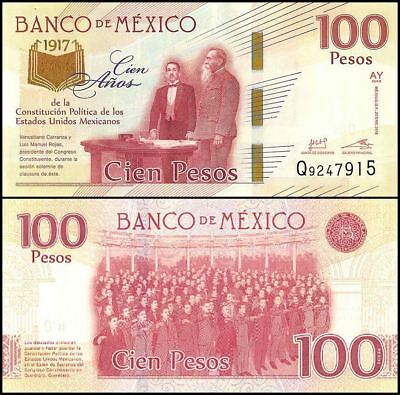 Mexico 100 Pesos, 2017(2016) NEW, 100 Years Political Mexican Constitution