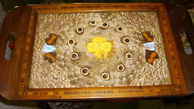 Vintage Tropical Butterfly Wing Tray
