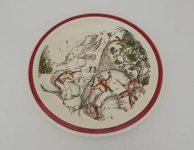 Vernon Kilns California Art Pottery Bits of The Old West The Posse Cowboys Plate