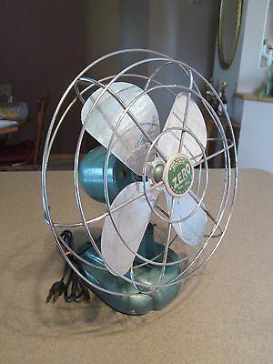 Vintage Zero Oscillating Elec. Fan Model 1265R McGraw Electric Co. Bersted MFG.