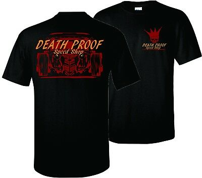 New Death Proof Industries Tshirt Hot Rod Garage Speed Shop Rat Rods T-Shirt