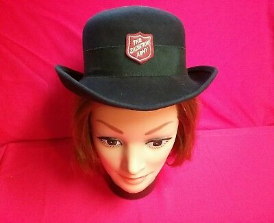Vintage ladies 1930s 1940s WW2 felt hat SALVATION ARMY women s military 3e73860a96a