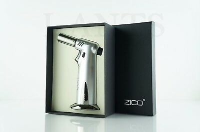 Zico (ORIGINAL) Ergo Grip Refillable Butane Jet Torch Gun Lighter With Gift Box!