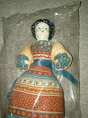 """1981~AVON""""American Heirloom Collection""""PORCELAIN HEAD DOLL(Unopened Bag, No Box)"""