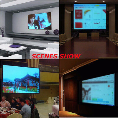 """60"""" Electric Motorized Remote Projection Screen HD Movie Projector White 16:9"""
