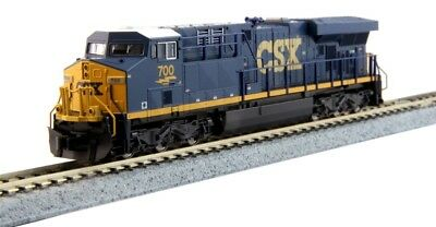 New Kato (Dark Future, Blue, Yellow) N GE ES44AC GEVO, CSX #700 Locomotive 17...