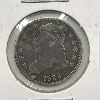 1832 10C Capped Bust Dime: Holed