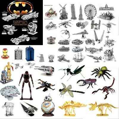 3D Metal Jigsaw Assembly Star Wars/Iron Man Series Puzzle DIY Toy Model Lot