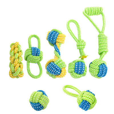 1-7Pcs Braided Cotton Rope Pet Dog Interactive Toys for Dogs Chews Bite Play Toy