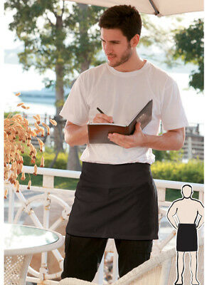 Waiter Waitress Cotton Drill Quarter Aprons No Pocket Hospitality 40cm(H)X67CM(W