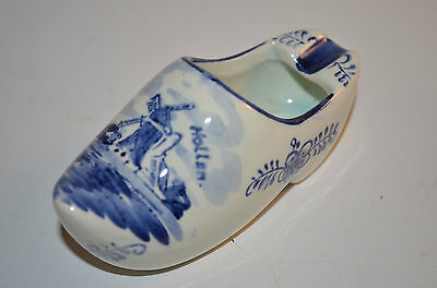 Holland Delft Ceramic Blue Handpainted Shoe Ashtray