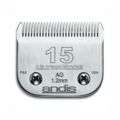Andis Ultraedge Number #15/1.2mm Dog Pet Grooming Clipper Blade Snap-on System
