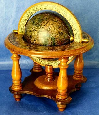Old World Globe, Italian Vintage Wooden UGC. Rotating, ca 1930-40s