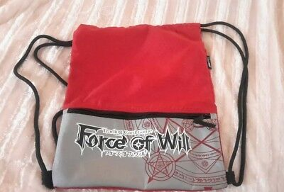 (FOW) Force of Will premium drawstring bag with zippered pocket