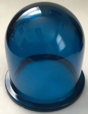 Vintage Blue Hi-Stress Dome Lens Light Cover-Nautical-Ship-Industrial